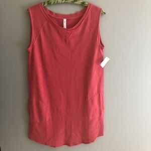 Gap Body Shirt Dress Sleeveless Melon M Sweatshirt